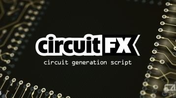 CircuitFX v1.52 for After Effects 高科技电流电路板线路图脚本