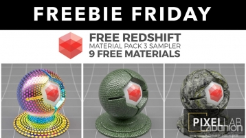 Redshift C4D Material Pack 3 材质预设库