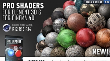 Pro Shaders for CINEMA 4D 200多种C4D材质预设