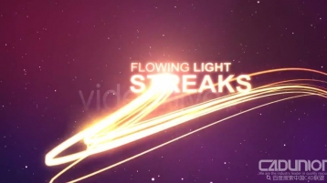 金色流光粒子飘散logo演绎Ae模板 - Flowing Light Streak