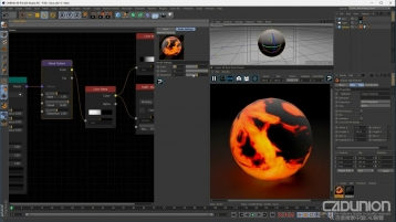 Cycles for CINEMA 4D 渲染器熔岩效果渲染视频教程