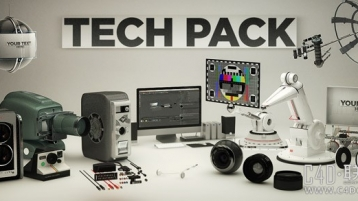 The Pixel Lab Tech Pack,高科技C4D模型素材包