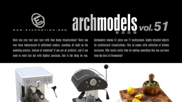 室内厨房用品Max模型包 Archmodels vol. 51