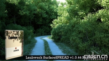 植物生成插件 - Laubwerk SurfaceSPREAD v1.0.44 R17 WIN