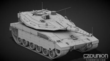 Тank Merkava Mark IV Hi-Poly 坦克C4D高精度模型