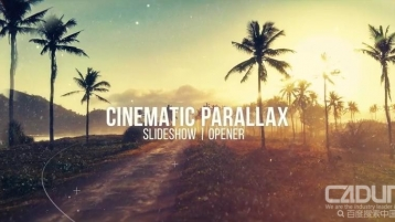 Cinematic Parallax Slideshow 三维透视照片展示Ae模板