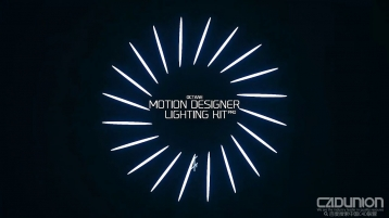 Octane Motion Designer Lighting Kit Pro for C4D 灯光预设