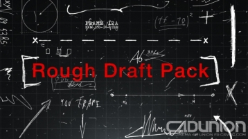 RoughDraftPack 180组创意手绘元素动画Ae模板