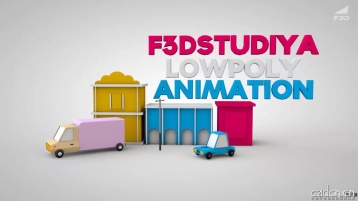 C4D 低变形建模+动画合成视频教程 - Low Poly modeling and animation