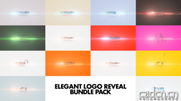 14组简洁LOGO演绎Ae模板 - Elegant Logo Reveal Bundle Pack